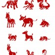 Chinese zodiac - Stock Vector