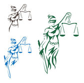 Lady Justice — Vector de stock