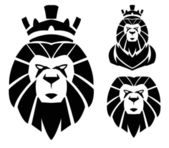Lion with crown — Stock Vector
