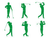 Golf-symbol — Stockvektor