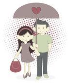 Couple Umbrella — Wektor stockowy