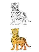 Tiger vektor — Stockvektor