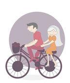 Bicicletta di coppia — Vettoriale Stock
