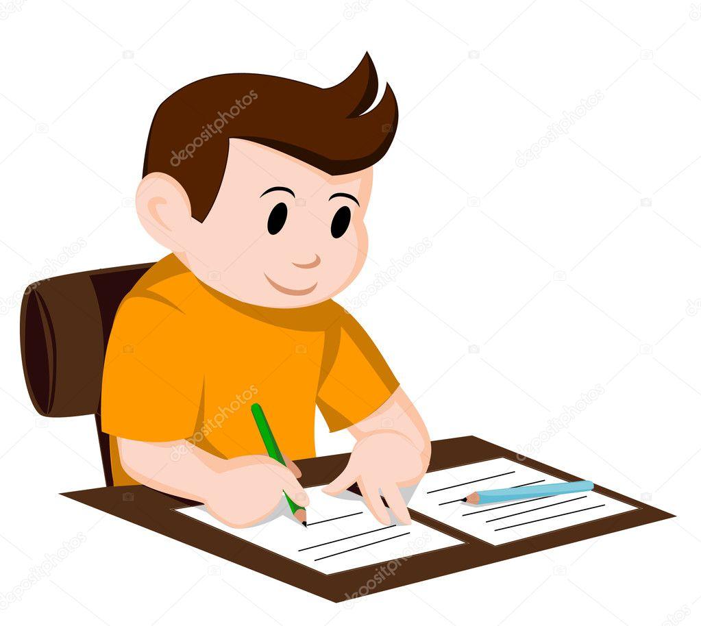 Child write — Stock Vector © premiumdesign #11987930
