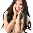 Portrait of a happy Asian woman. — Stock Photo