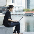 Business woman using a Laptop — Stock Photo
