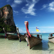 Longtail boat on Thai Beach, Krabi — Stock Photo #12003417