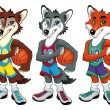 Basketball mascots. — Stock Vector