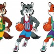 Basketball mascots. — Vettoriale Stock #10797891