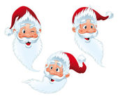 Santa Claus - expressions. — Stock Vector