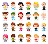 Funny cartoon and vector isolated characters — Stock Vector