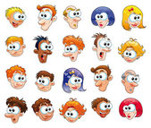 Funny faces. — Vector de stock