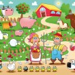 Royalty-Free Stock Vector Image: Farm Family.