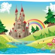 Panorama with castle. — Stock Vector #11396563