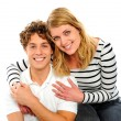 Stock Photo: Playful young couple in love