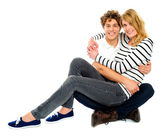 Adorable young love couple — Stock Photo