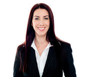 Smiling young female executive — Stock Photo