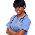 Female surgeon with stethoscope — Stock Photo #11093812