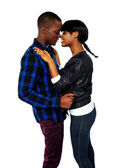 African young couple deeply in love — Stock Photo