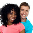Couple smiling with joy. Hugging in love — Stock Photo #11131857