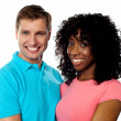 Royalty-Free Stock Photo: Happy young couple smiling