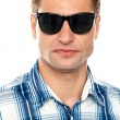 Handsome casual man wearing goggles — Stock Photo #11132018