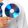 Closeup of a man holding compact disc — Stock Photo #11132027