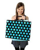 Teenager hospodářství nákupní tašky — Stock fotografie