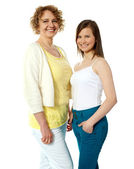 Gorgeous mother and daughter posing — Stock Photo