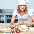 Bakery woman preparing healthy food - Stock fotografie