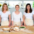 Group of young beautiful professional chefs — Stock Photo #11506186