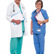 Two medical professionals standing together — Stock Photo
