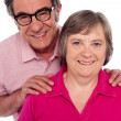 Portrait of smiling matured couple - Stockfoto