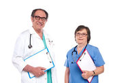 Smiling health care professionals — Stock Photo
