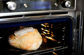 Baked cake in the oven — Stock Photo