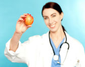 An apple a day keeps the doctor away — Stock Photo