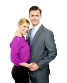 Young business in love — Stock Photo
