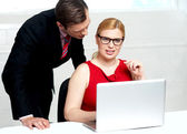 Young businessteam working in office — Stock Photo