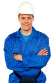 Attractive repairman posing with style — Stock Photo