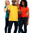 Portrait of joyful young group of friends — Stock Photo #12130725