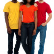 Royalty-Free Stock Photo: Trio of casual young friends posing in style