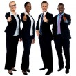 Royalty-Free Stock Photo: Corporate team gesturing thumbs up