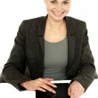 Pretty businesswoman using tablet device — Stock Photo #12131345