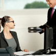 Business team of two working in office — Stock Photo