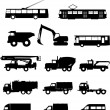 Stock Vector: Types of transport