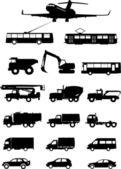 Tipos de transporte — Vector de stock