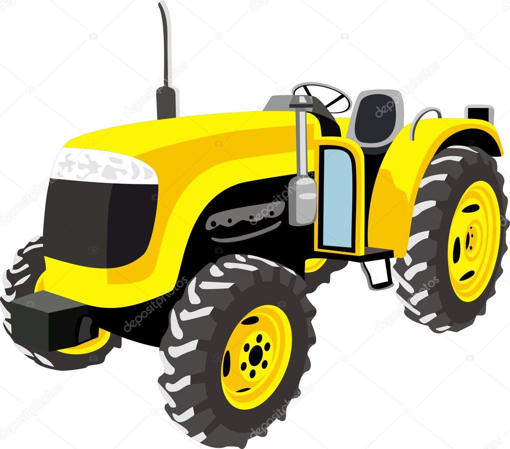 Yellow Tractor Clip Art : Tractor images and stock photos party