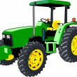 Stock Vector: Green Tractor isolated on white
