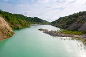 Beach in the early Cretaceous quarries in Belarus — Stock Photo