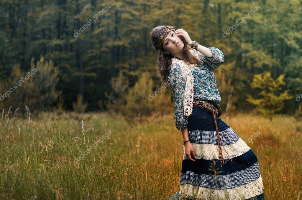 Beautiful Girl Scenery Beautiful Girl — Photo by